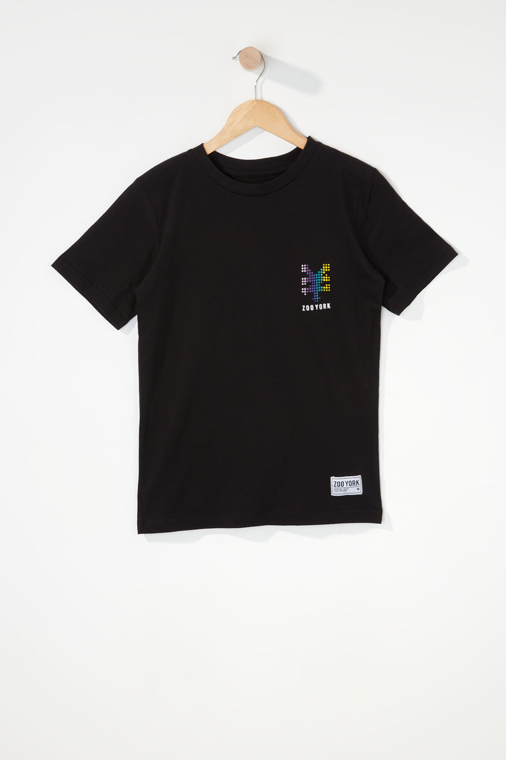 Zoo York Boys Rainbow Dots Logo T-Shirt Black