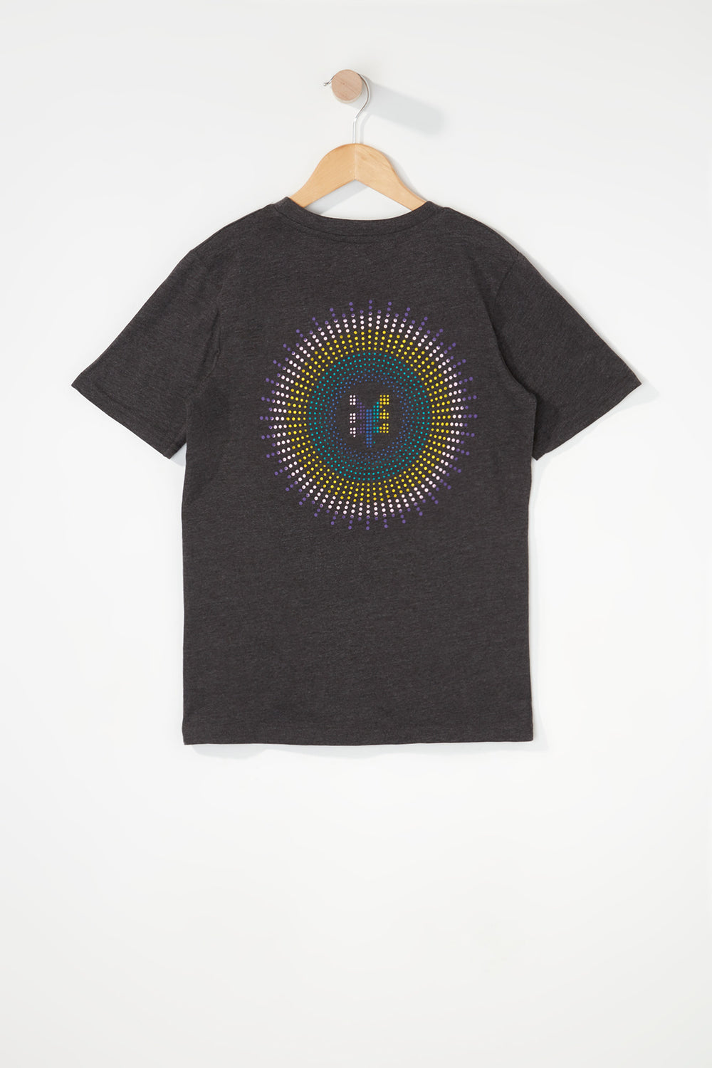 Zoo York Boys Rainbow Dots Logo T-Shirt Charcoal