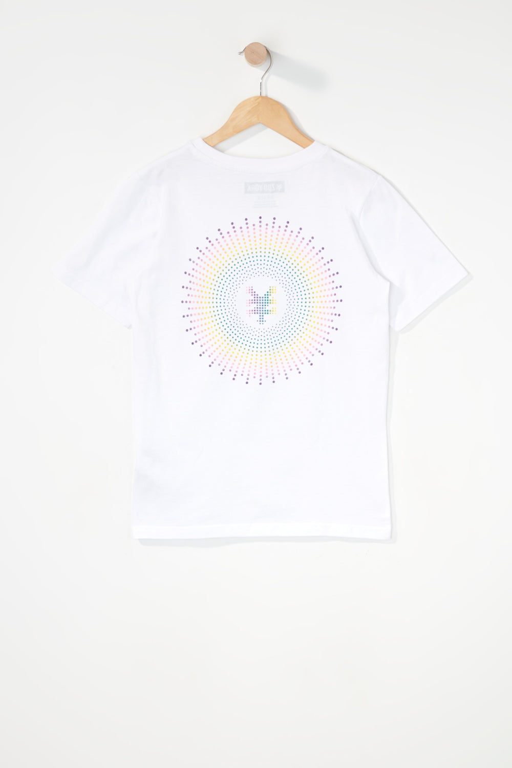 Zoo York Boys Rainbow Dots Logo T-Shirt White