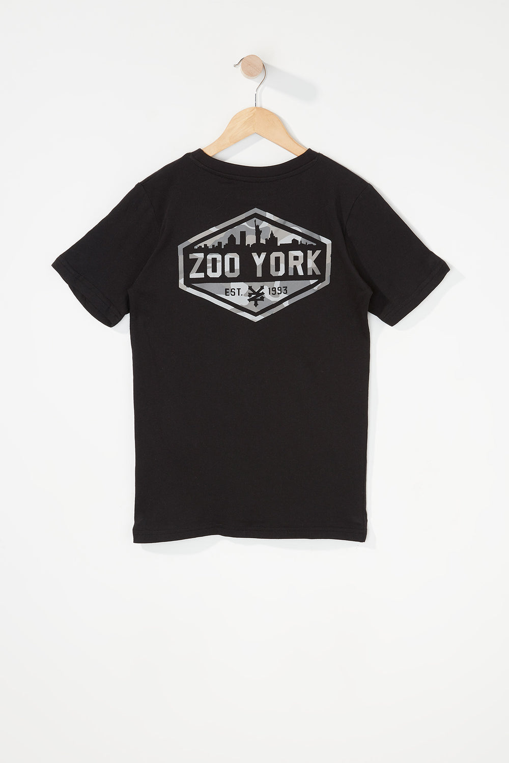 Zoo York Boys Camo Logo T-Shirt Black