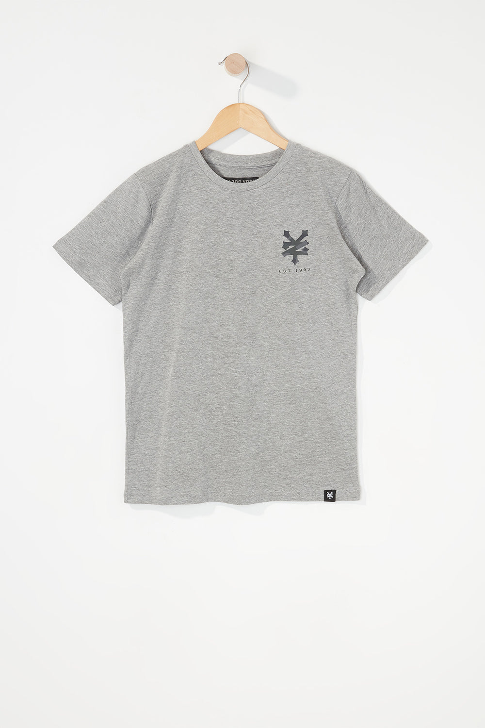 Zoo York Boys Camo Logo T-Shirt Heather Grey