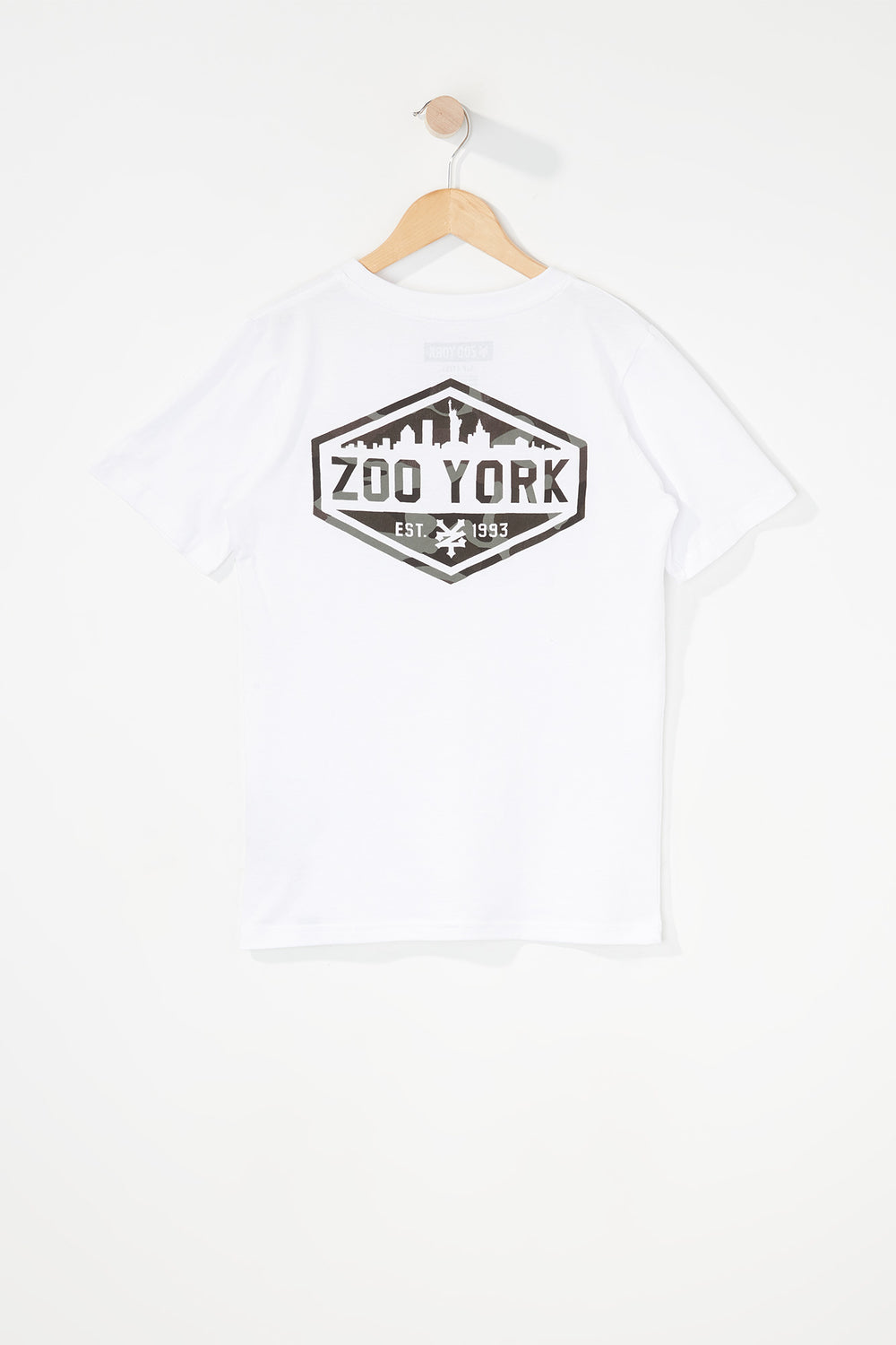 Zoo York Boys Camo Logo T-Shirt White