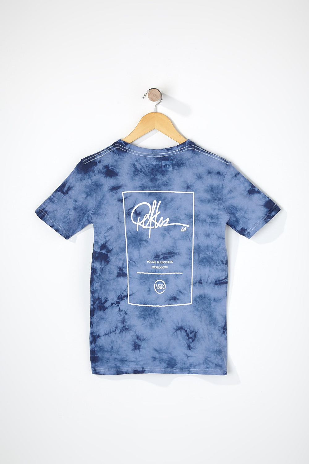 Young & Reckless Boys Tie-Dye T-Shirt Denim Blue