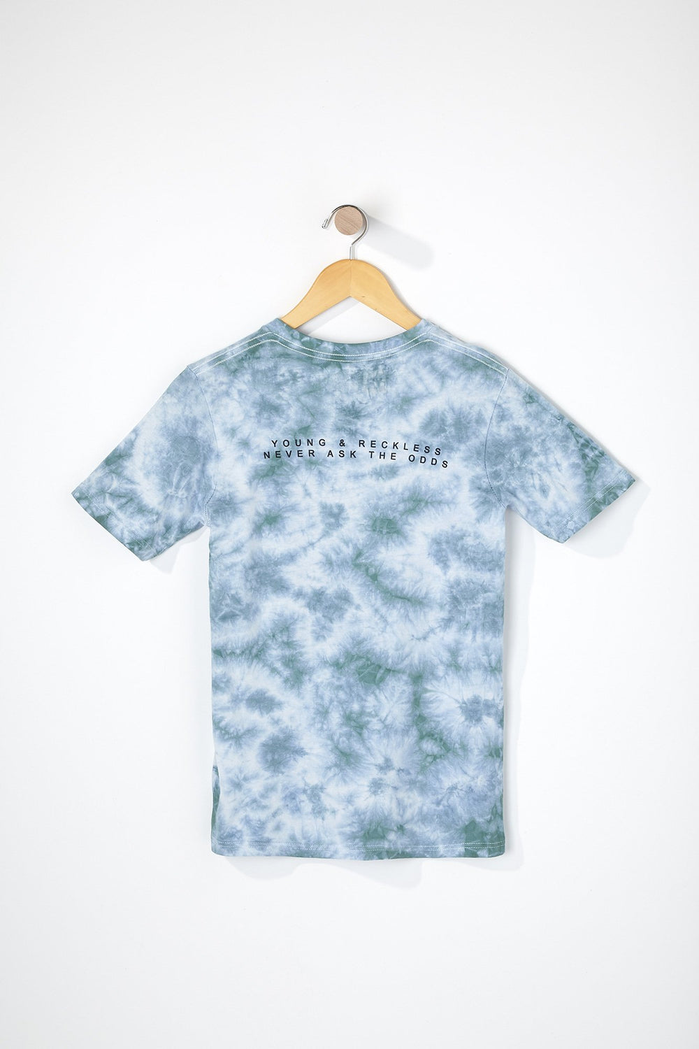 T-Shirt Tie-Dye Young & Reckless Garçon Sauge