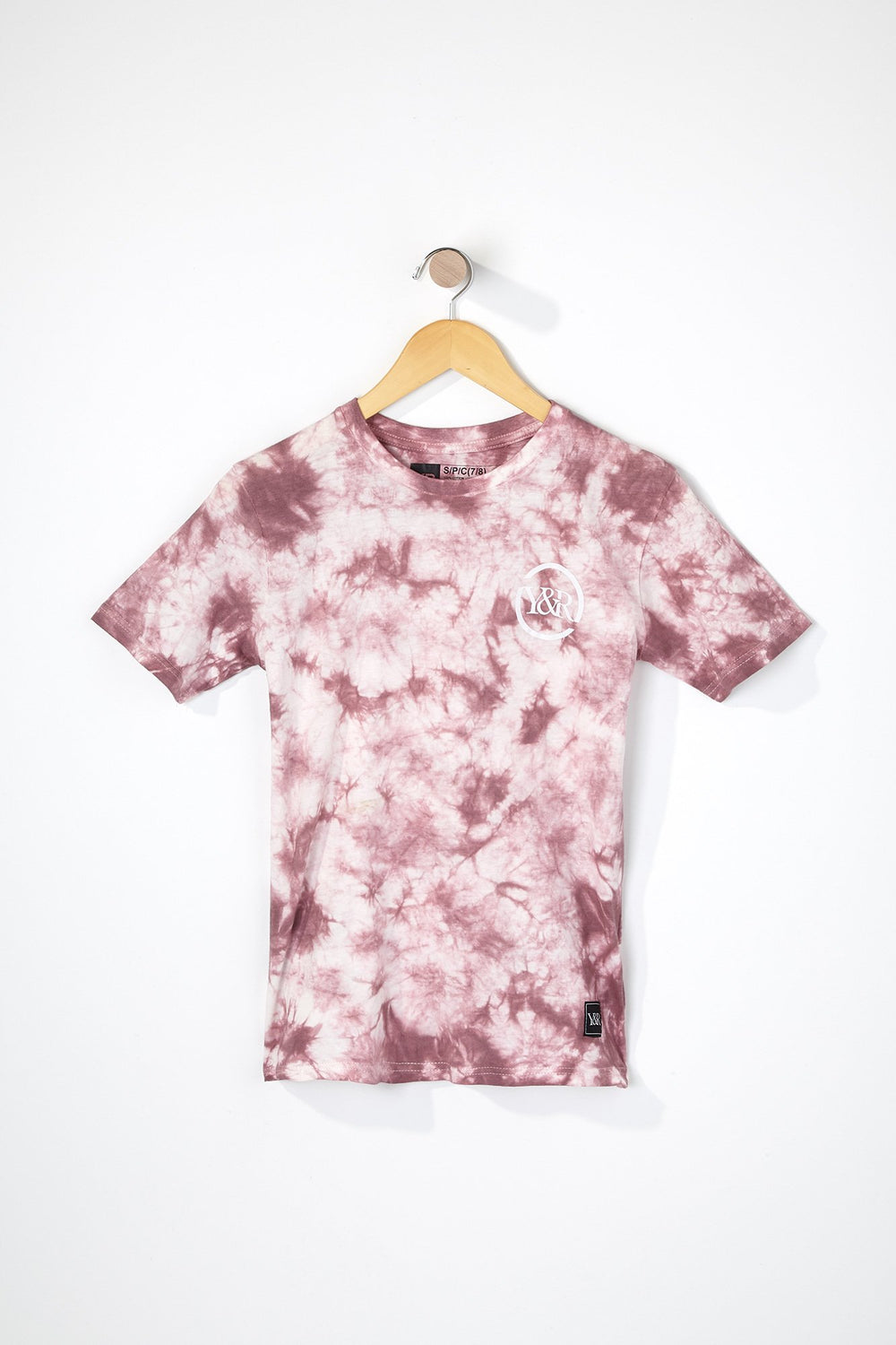 T-Shirt Tie-Dye Young & Reckless Garçon Mauve