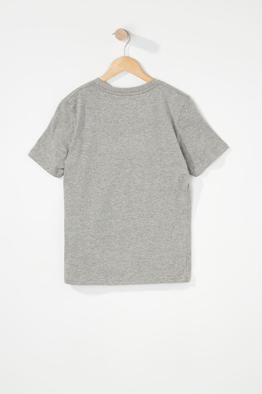 Zoo York Boys Patch Logo T-Shirt Heather Grey