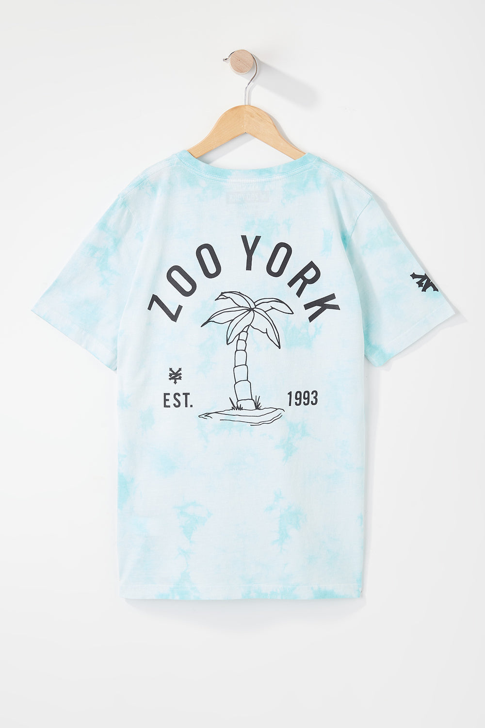 Zoo York Boys Palm Tree Tie-Dye T-Shirt Teal