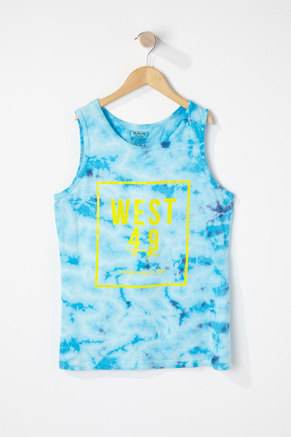 West49 Boys Front Box Logo Tank Top Blue