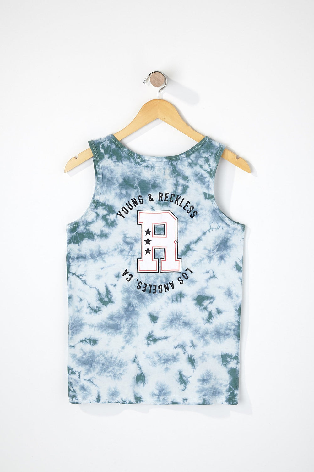 Reckless Boys Homecoming Logo Tank Top Sage