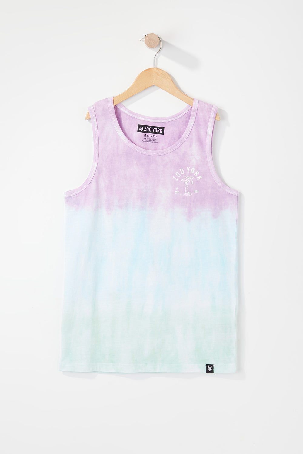 Zoo York Boys Deep Dye Tank Top Purple