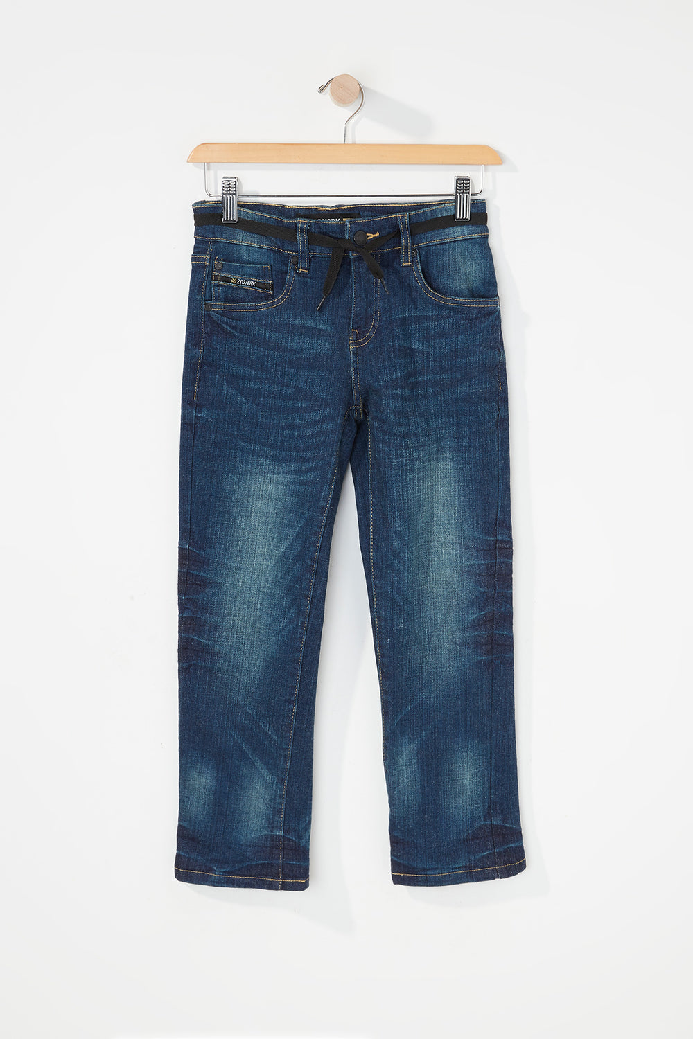 Zoo York Boys 5-Pocket Stretch Slim Jeans Midnight Blue
