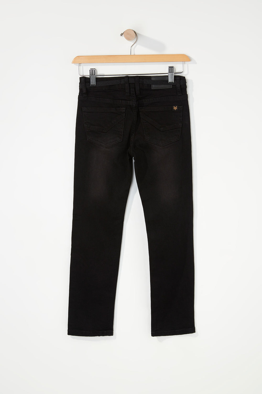 Jeans Ajusté Extensible Aspect Usé Zoo York Junior Noir Total