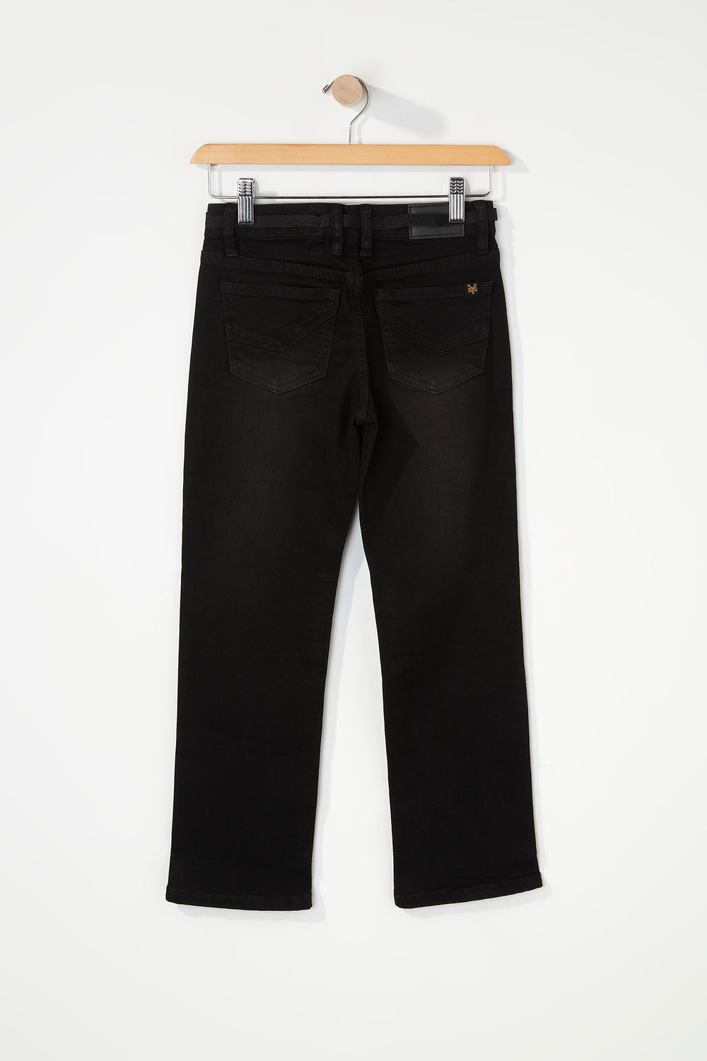 Zoo York Boys Distressed Black Stretch Slim Jeans Solid Black