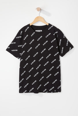 Zoo York Boys Logo Pattern T-Shirt