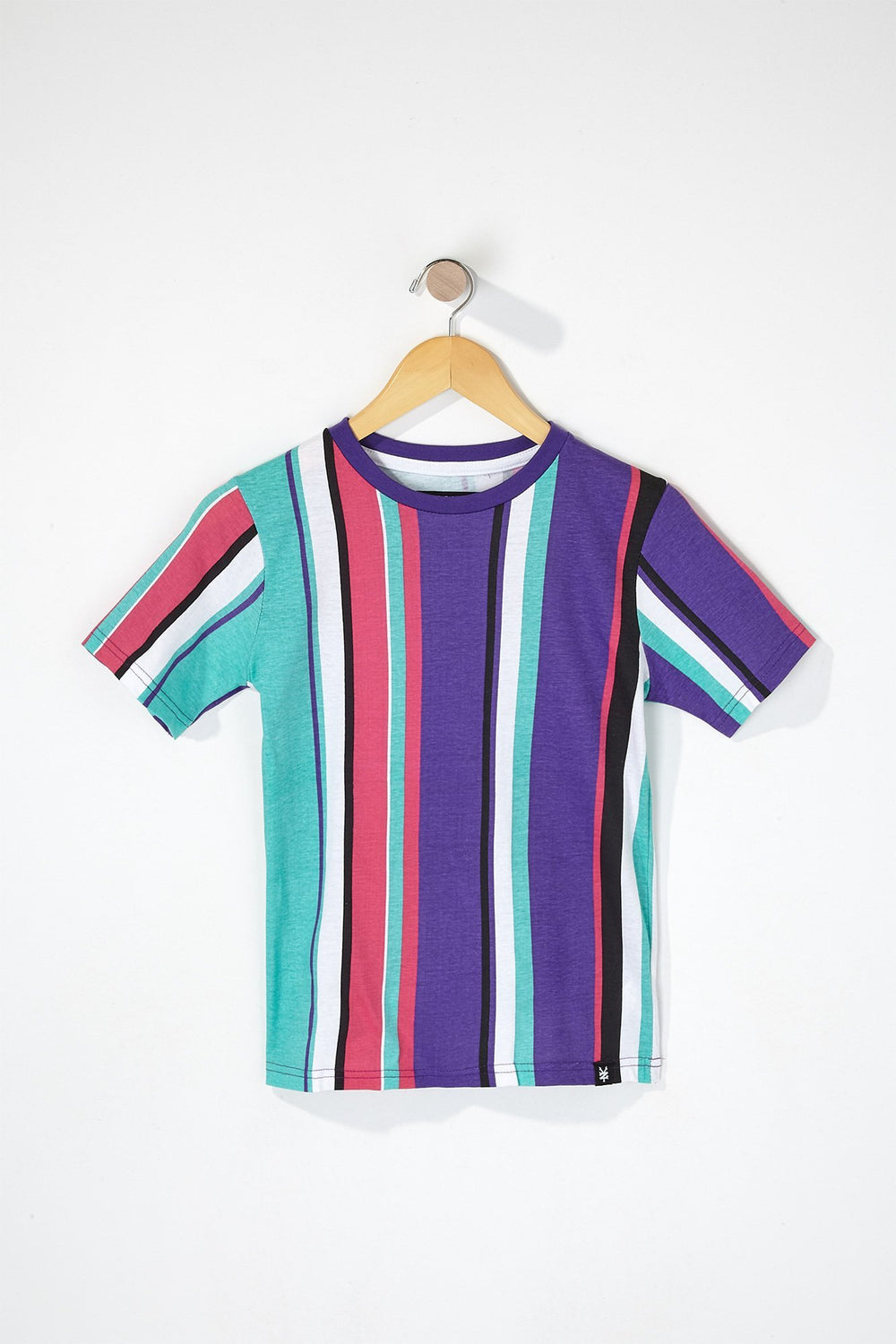 Zoo York Boys Striped T-Shirt Purple
