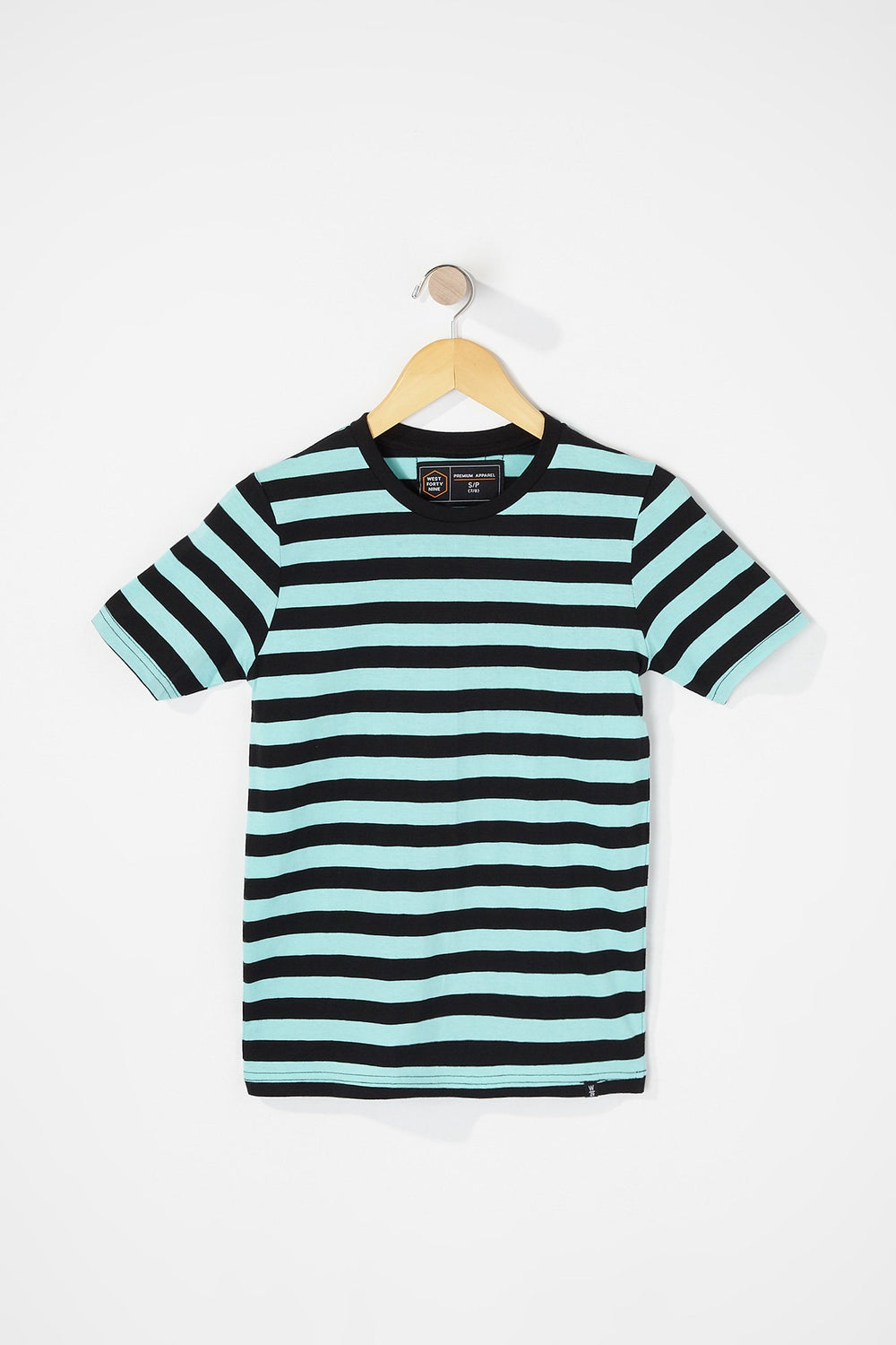 West49 Boys Striped T-Shirt Turquoise