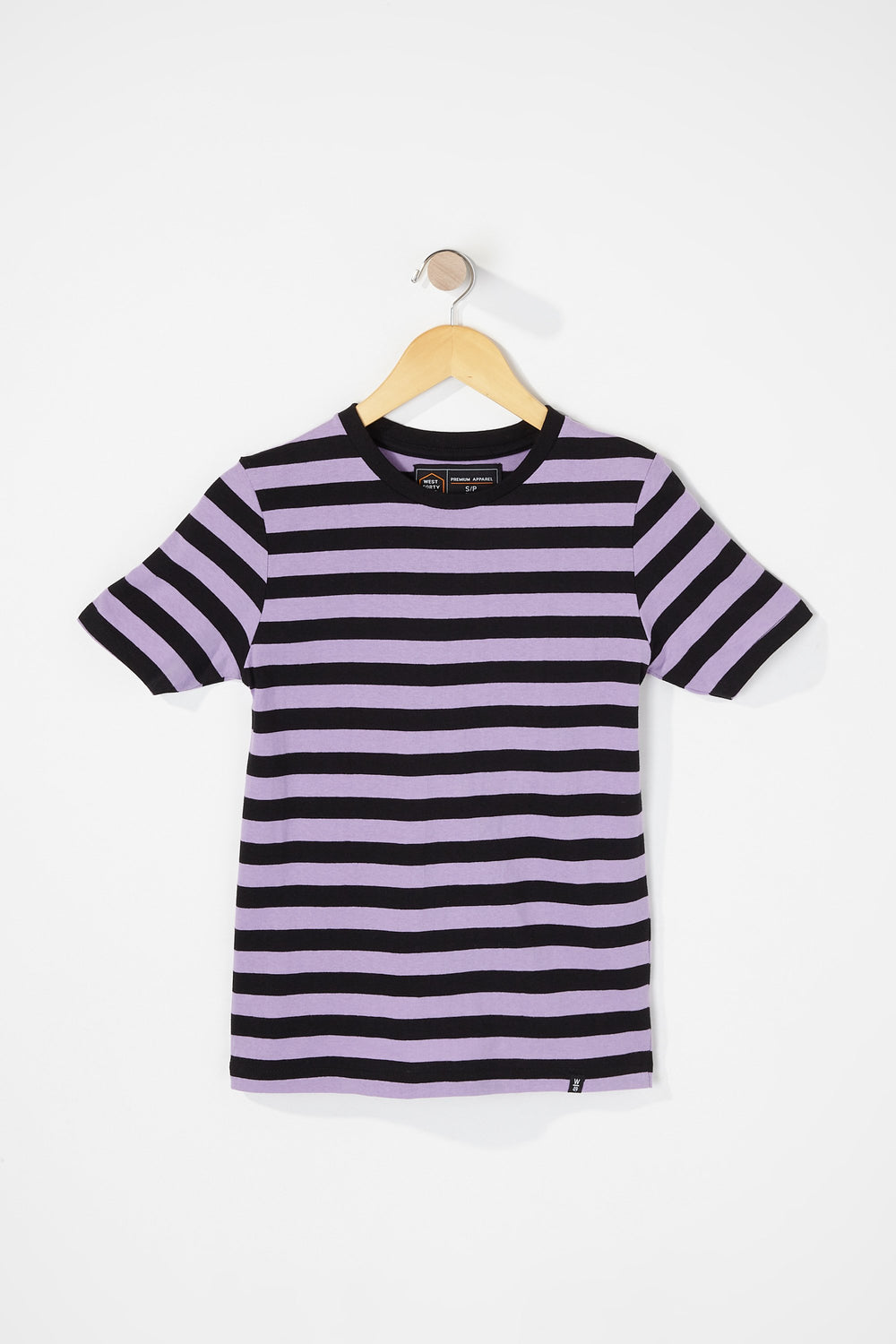 West49 Boys Striped T-Shirt Purple