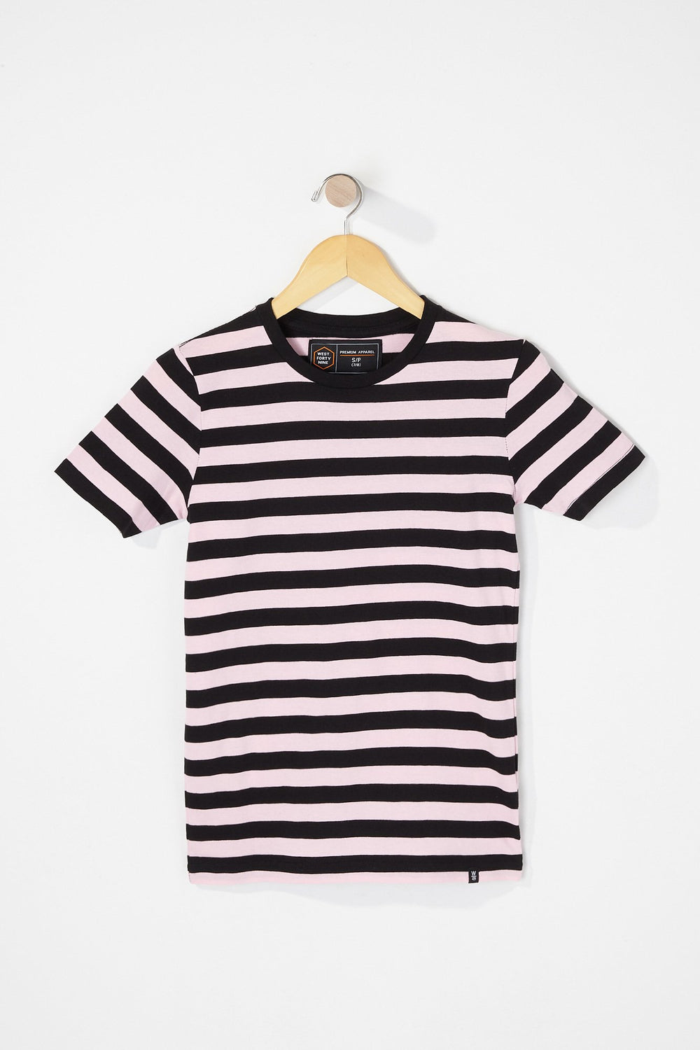 West49 Boys Striped T-Shirt Pink