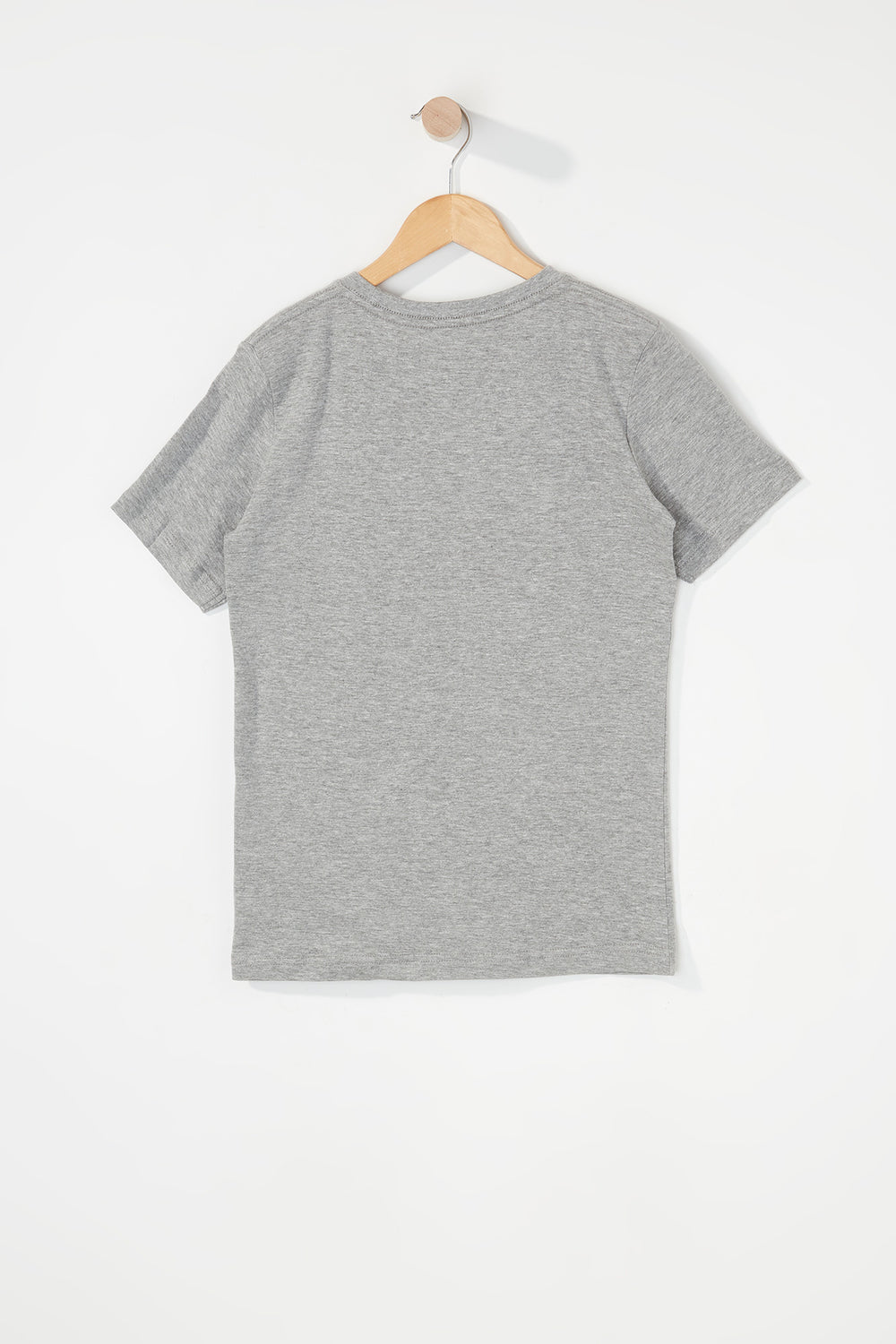 Zoo York Boys Embroidered Logo Pocket T-Shirt Heather Grey