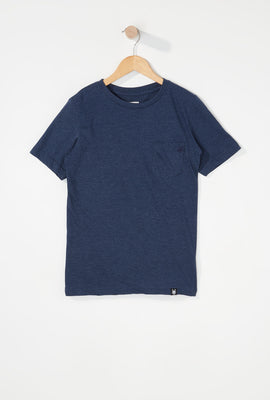 Zoo York Boys Embroidered Logo Pocket T-Shirt