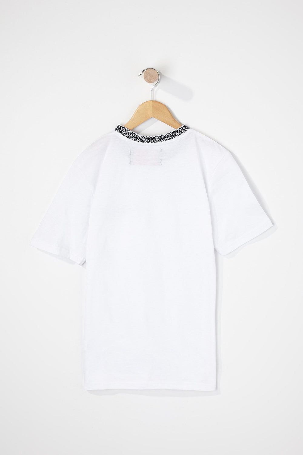 West49 Boys Contrast Pocket And Collar T-Shirt White