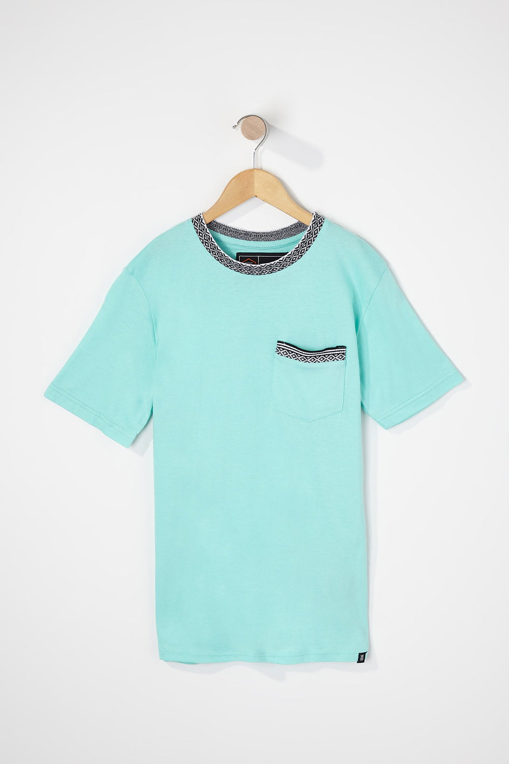 West49 Boys Contrast Pocket And Collar T-Shirt Turquoise