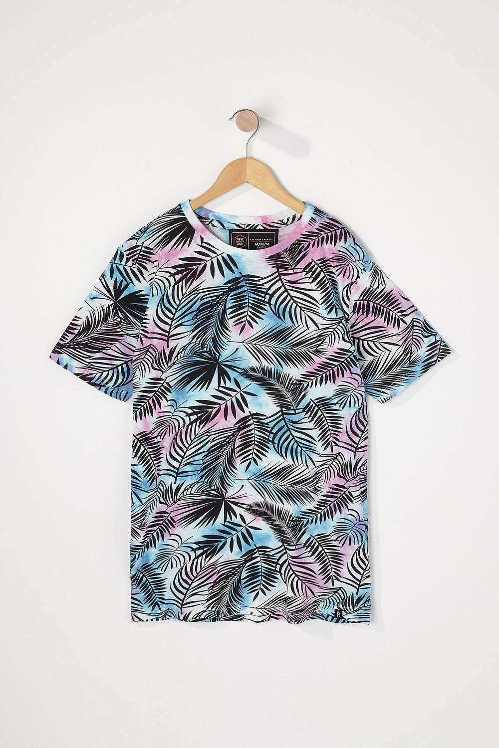 West49 Boys Tie-Dye Palm Tree T-Shirt Pink