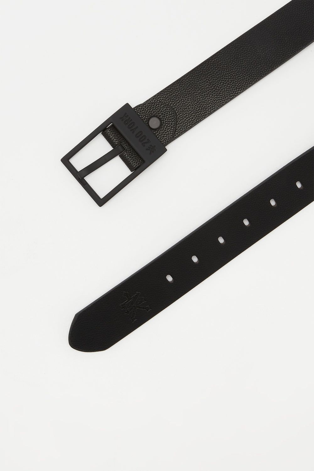 Zoo York Boys Black Faux Leather Belt Black