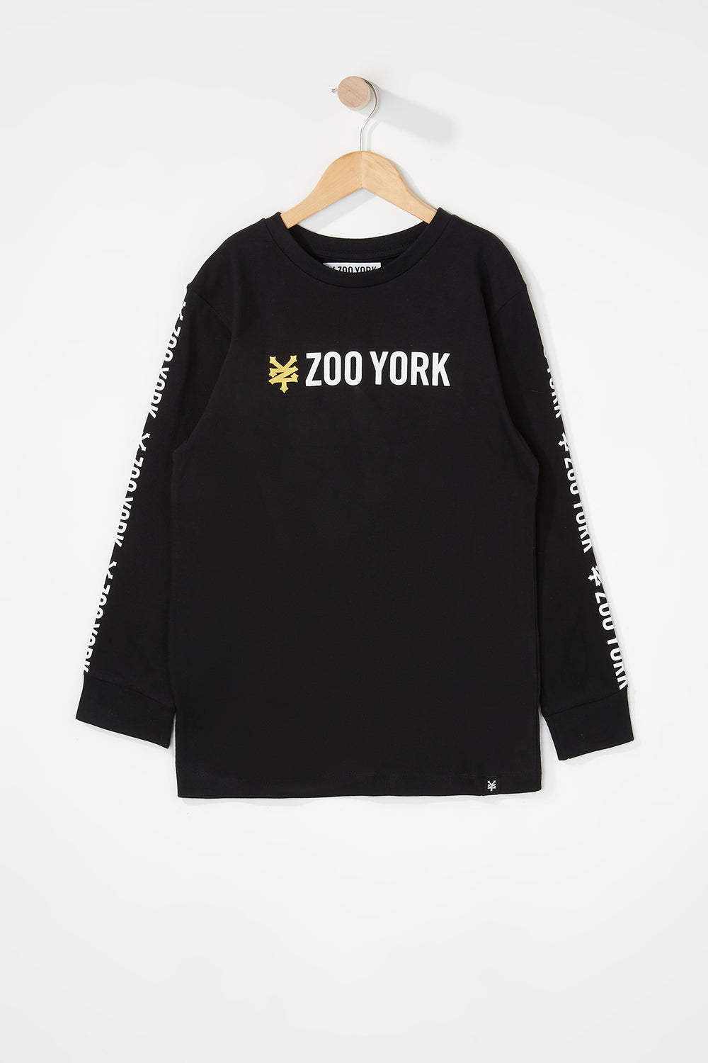 Zoo York Boys Classic Logo Long Sleeve Shirt Black