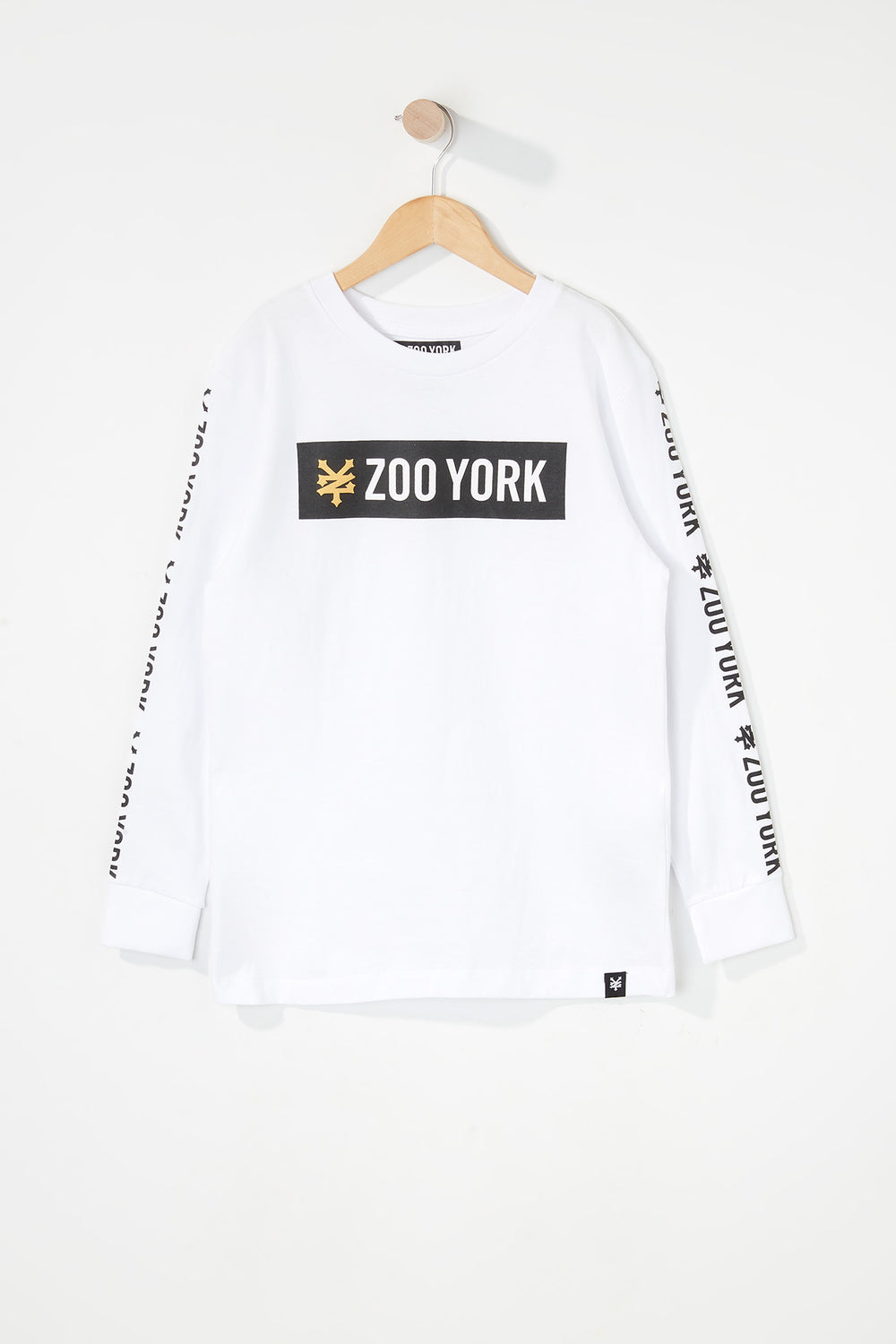 Zoo York Boys Classic Logo Long Sleeve Shirt White