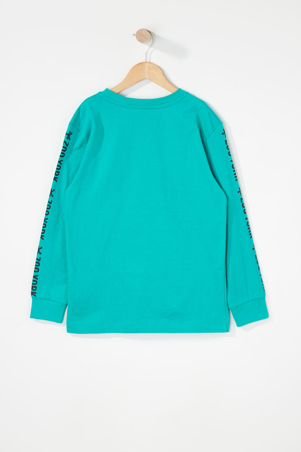 Zoo York Boys Classic Logo Long Sleeve Shirt Turquoise