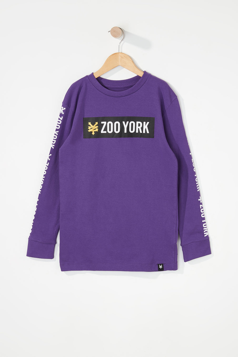 Zoo York Boys Classic Logo Long Sleeve Shirt Purple