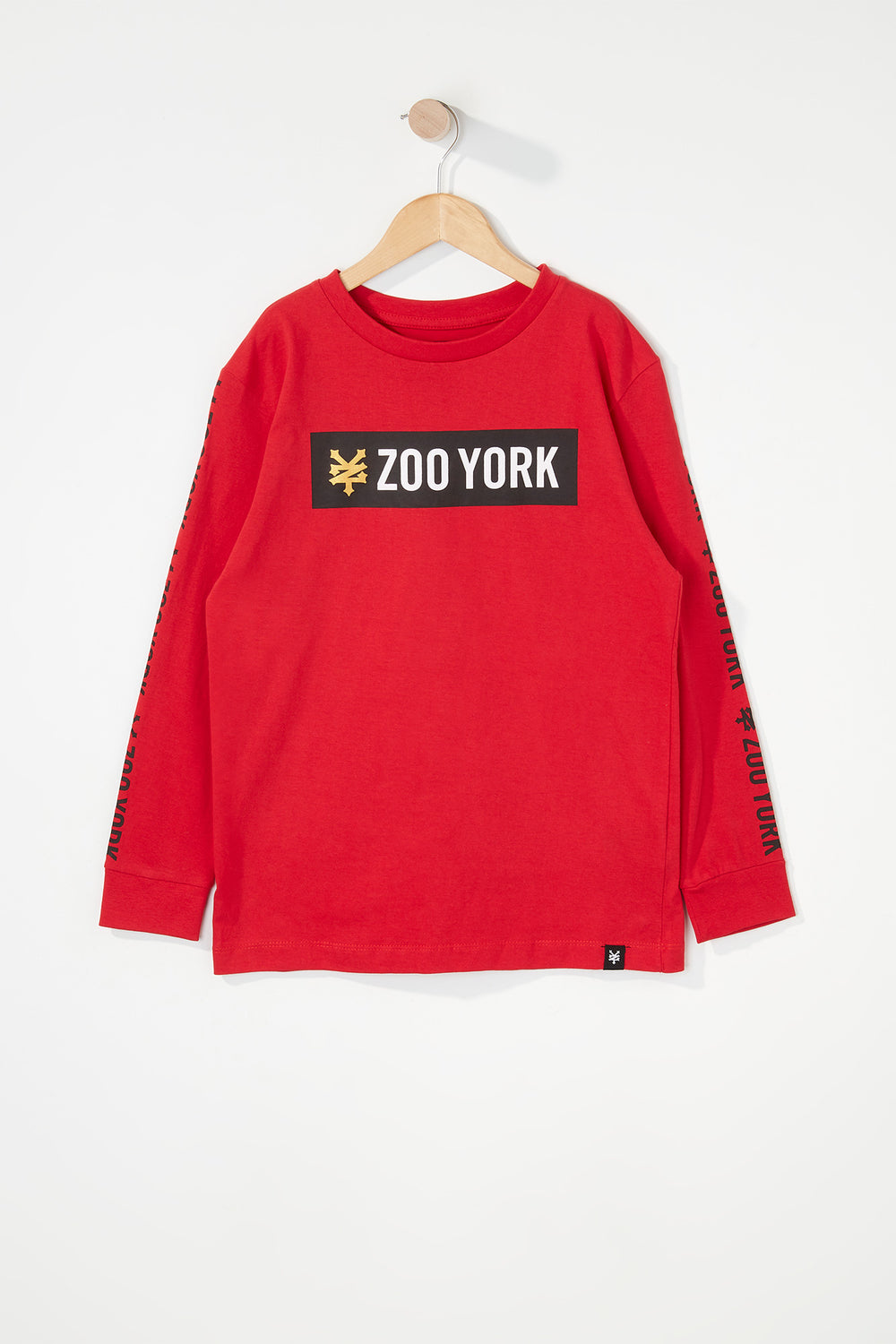 Zoo York Boys Classic Logo Long Sleeve Shirt Red