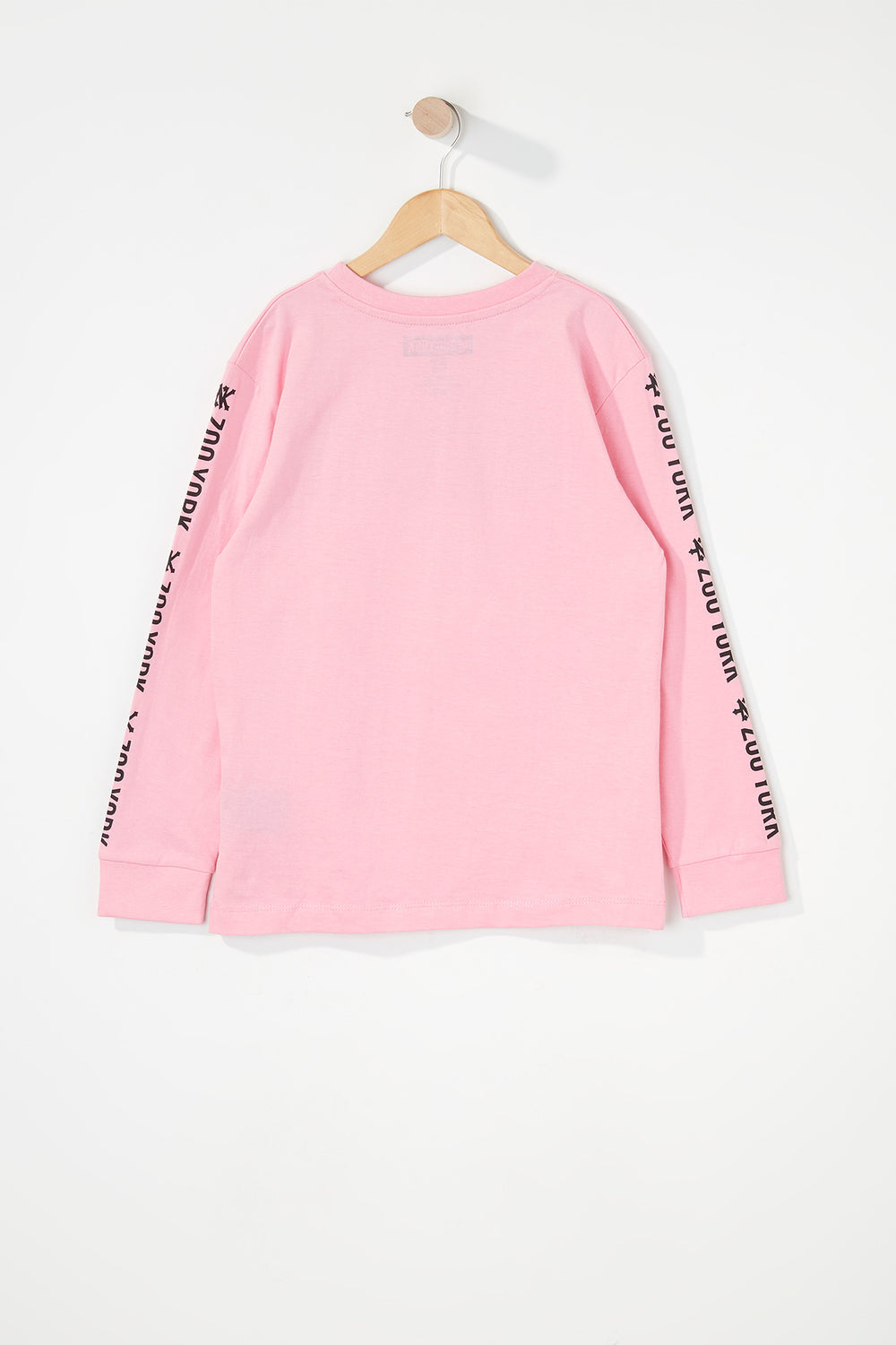 Zoo York Boys Classic Logo Long Sleeve Shirt Pink