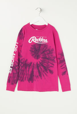 Haut à Manches Longues Tie-Dye Young & Reckless Junior