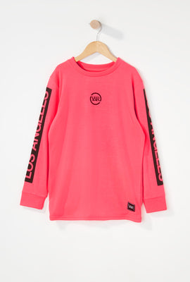 Young & Reckless Boys Neon Logo Long Sleeve Shirt