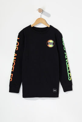 Young & Reckless Boys Neon Circle Logo Long Sleeve Shirt
