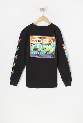 T-Shirt Logo Camouflage Multicolore Zoo York Junior
