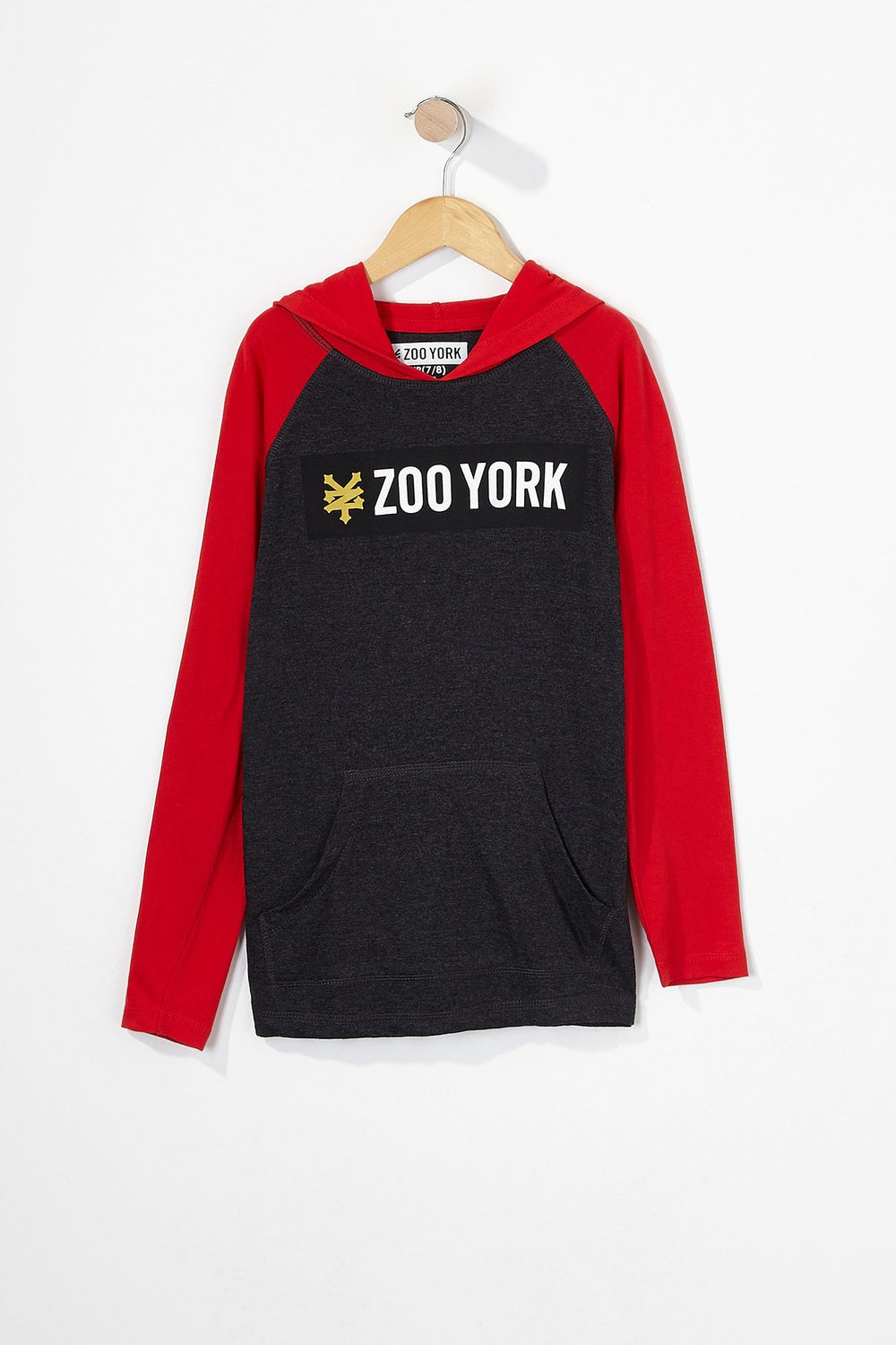 Zoo York Boys Box Logo Long Sleeve Charcoal