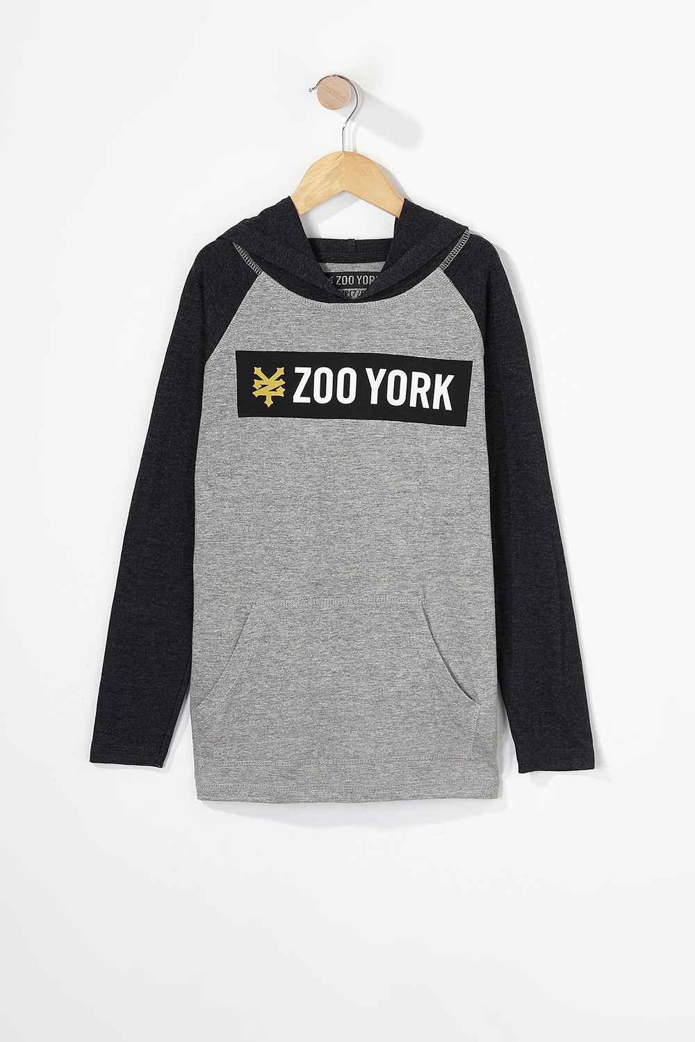 Zoo York Boys Box Logo Long Sleeve Heather Grey