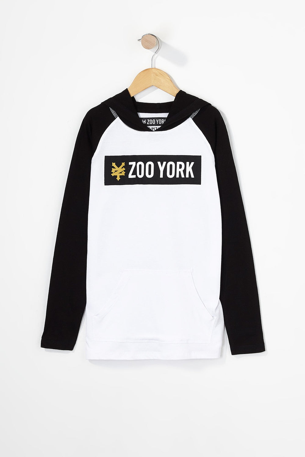 Zoo York Boys Box Logo Long Sleeve White