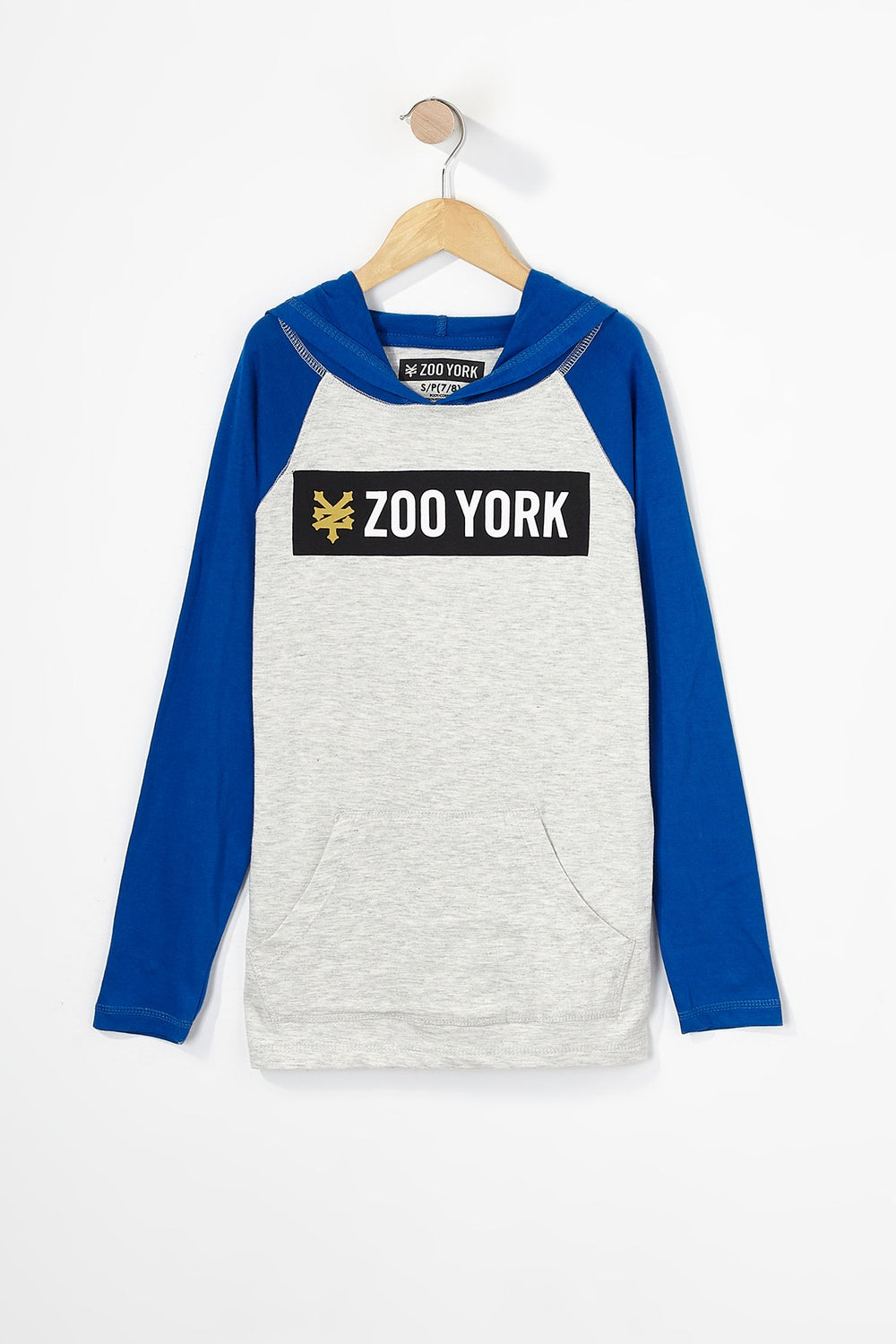 Zoo York Boys Box Logo Long Sleeve Oatmeal