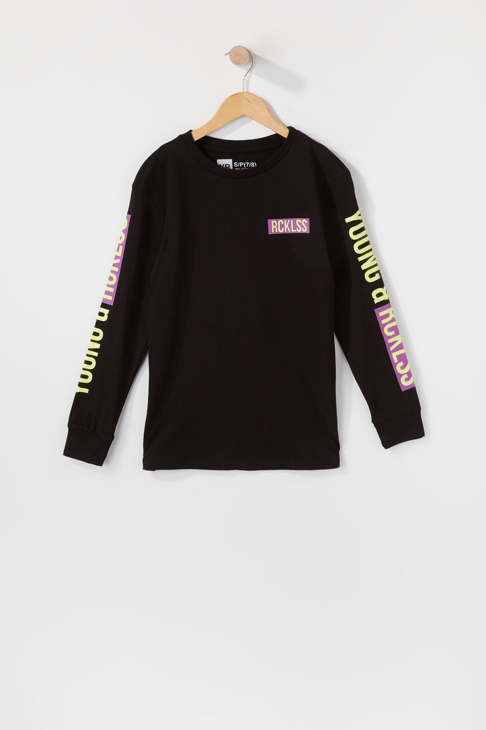 Young & Reckless Boys Stop At Nothing Long Sleeve Black