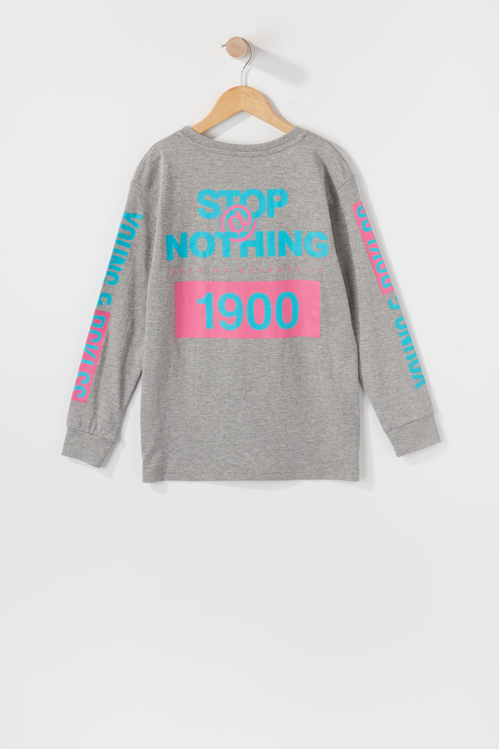 Young & Reckless Boys Stop At Nothing Long Sleeve Heather Grey