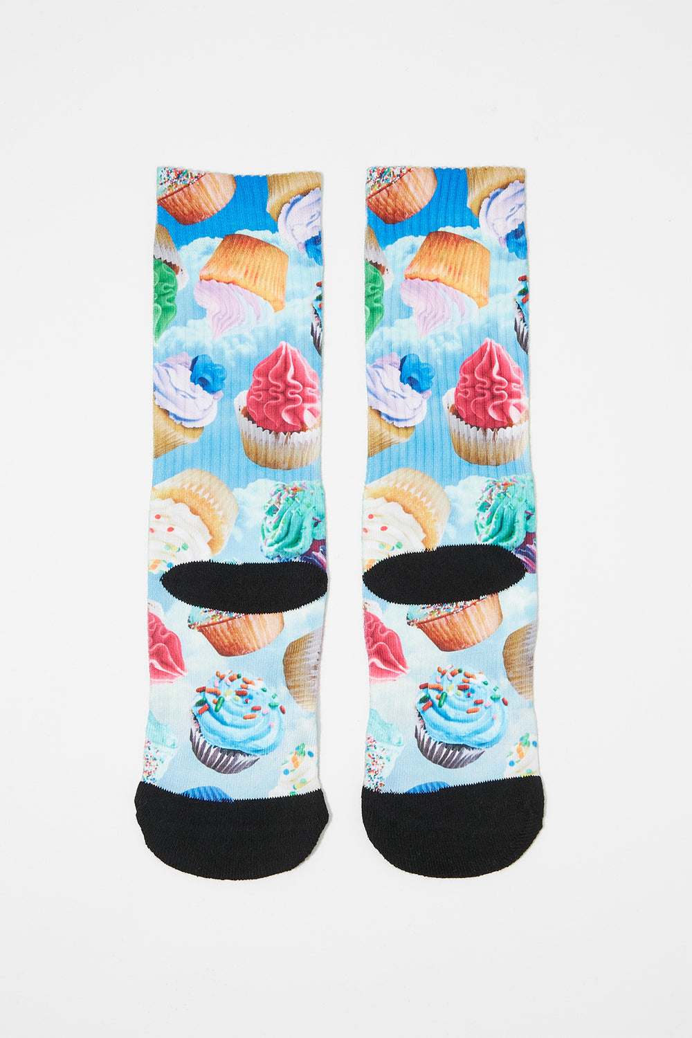 Zoo York Boys Rainbow Crew Socks Baby Blue