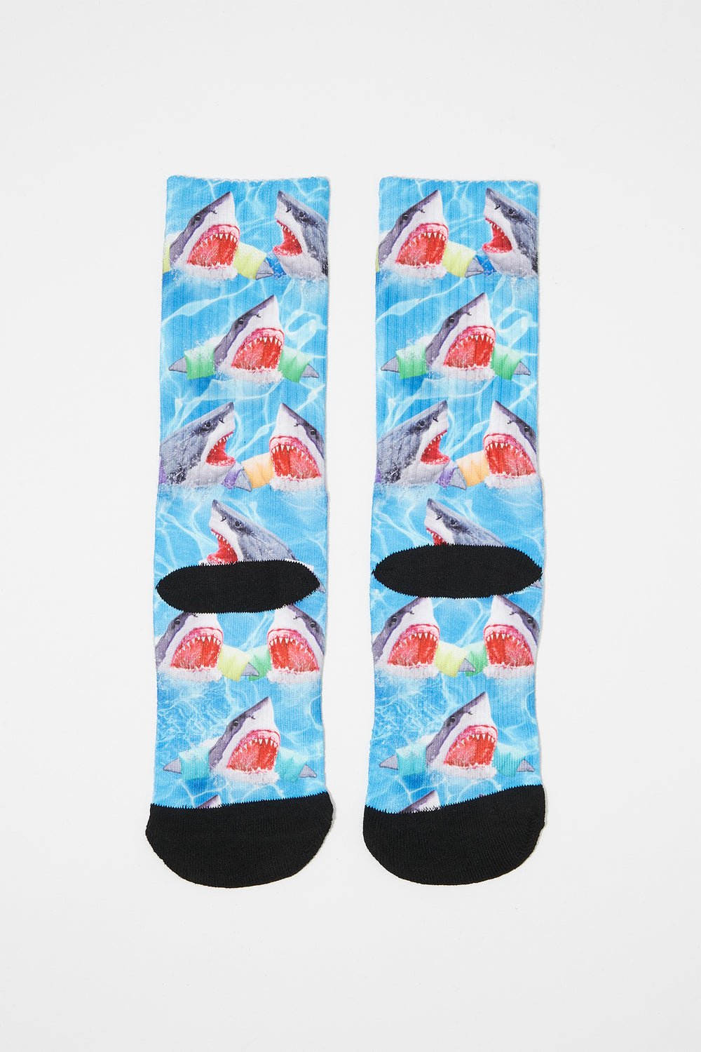 Zoo York Boys Rainbow Crew Socks Ocean Blue