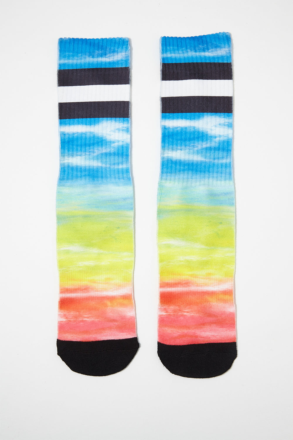 Zoo York Boys Rainbow Crew Socks Yellow