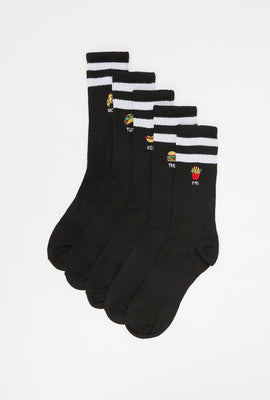 5 Paires de Chaussettes Fast Food West49 Junior