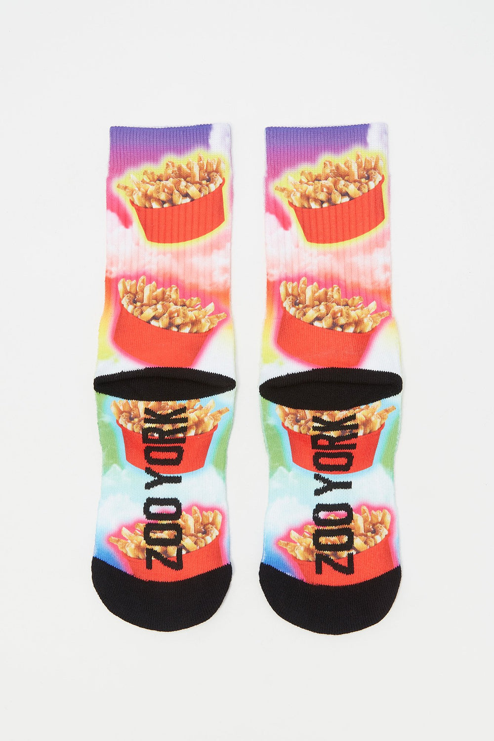 Chaussettes Poutine Zoo York Junior Rouge