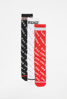 Zoo York Youth Reflective Crew Socks (3-Pack)